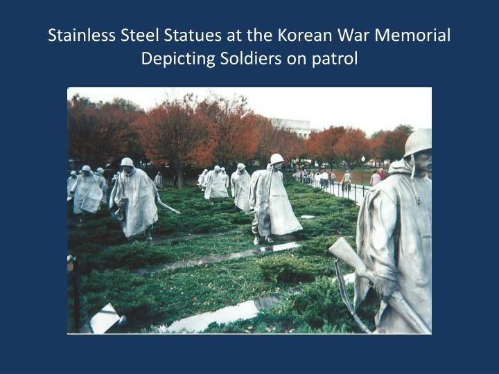 Stainless Steel Statues at the Korean War Memorial