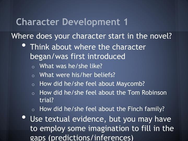 Character Development 1