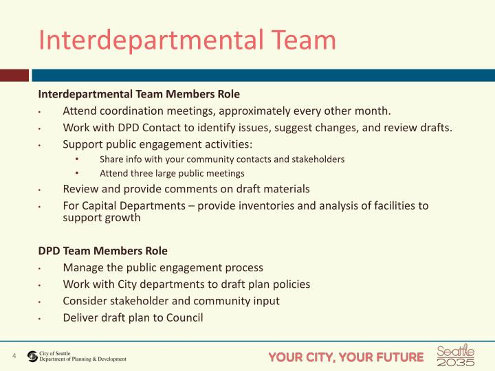 Interdepartmental Team