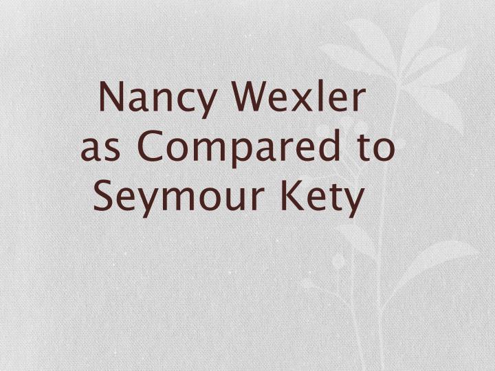Nancy Wexler