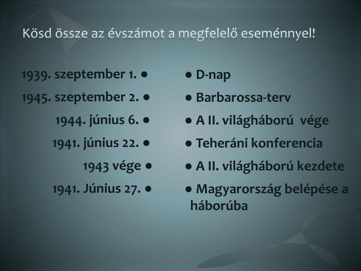 1939. szeptember 1. ●