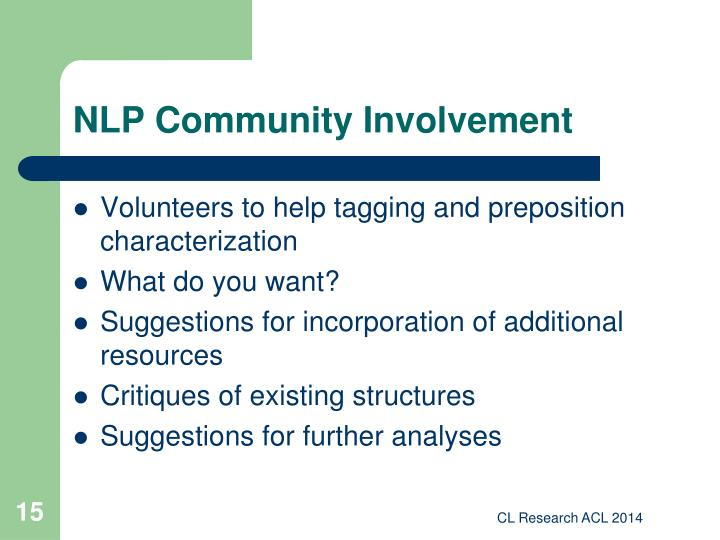 NLP Community Involvement