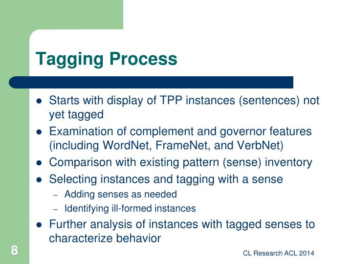 Tagging Process