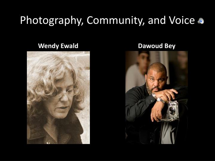 photography community and voice