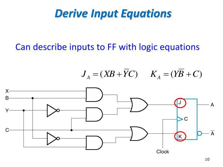 Derive Input Equations
