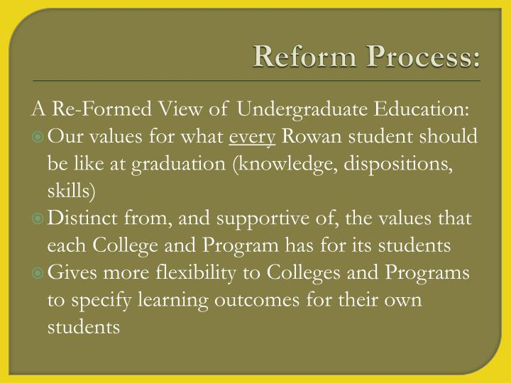 Reform Process: