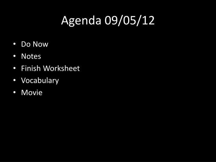 Agenda 09/