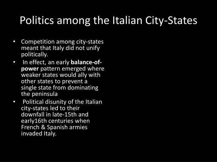 Politics among the Italian City-States