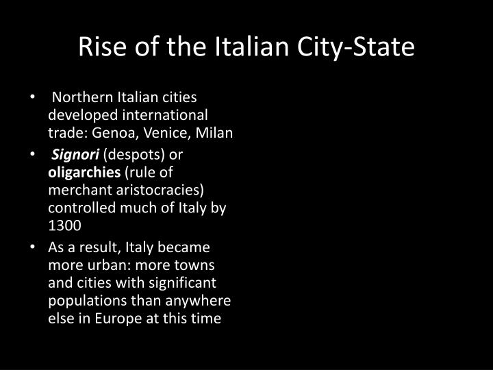 Rise of the Italian City-State