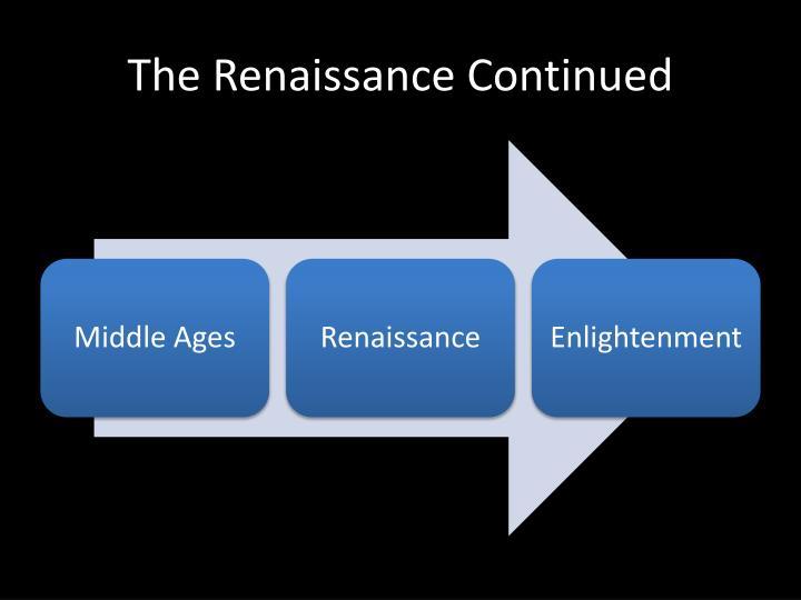 The Renaissance Continued