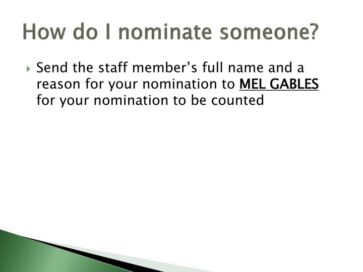 How do I nominate someone?