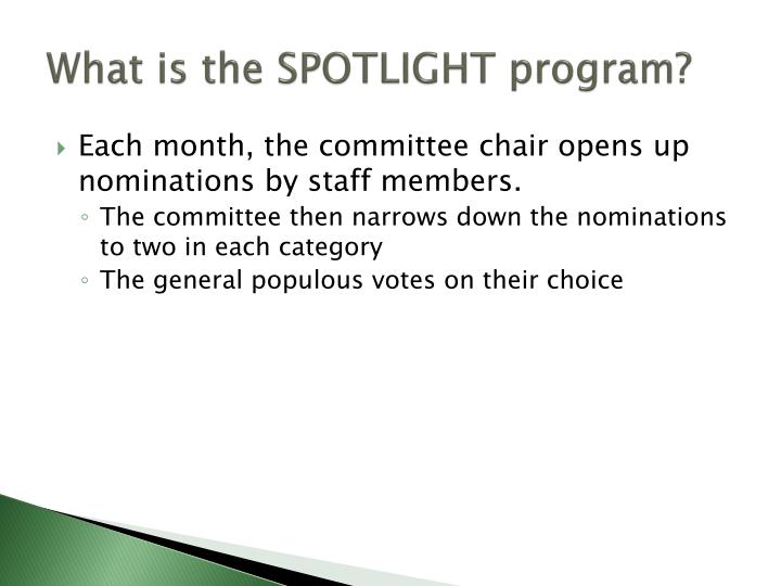 What is the SPOTLIGHT program?