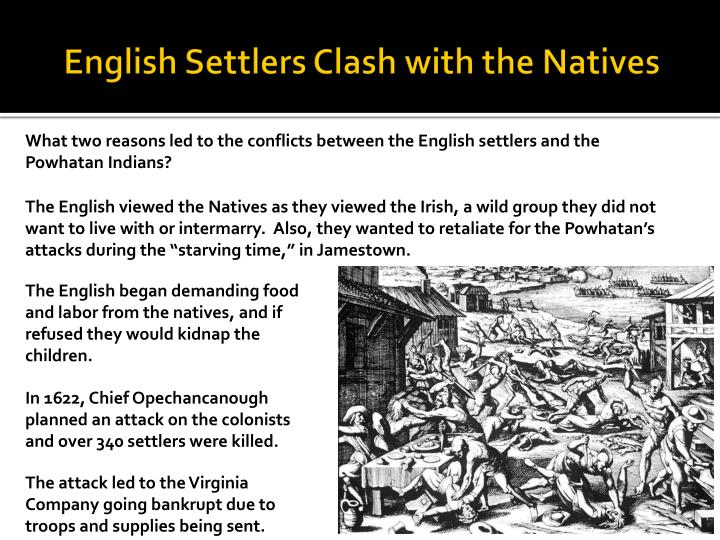 English Settlers Clash with the Natives