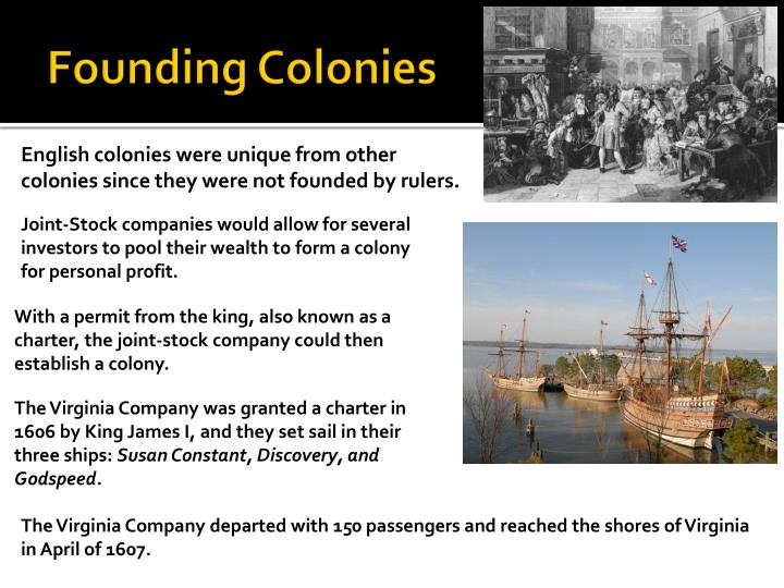 Founding Colonies
