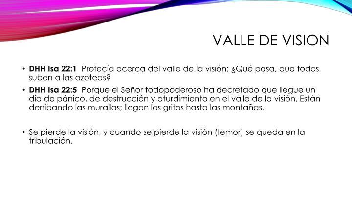 Valle de vision
