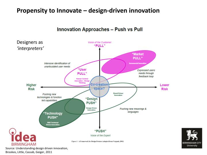 Propensity to Innovate – design-driven innovation