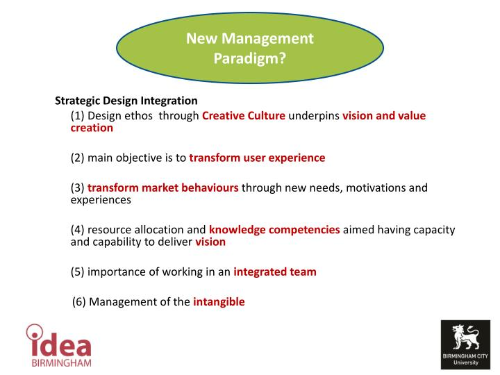New Management Paradigm?