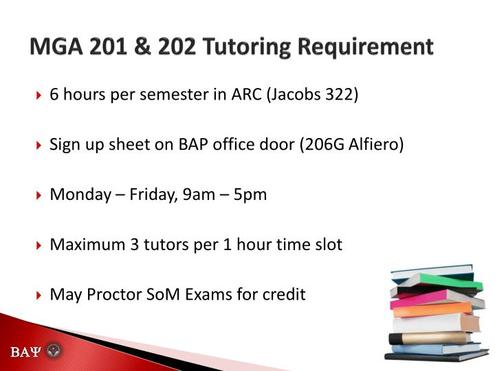 MGA 201 & 202 Tutoring Requirement