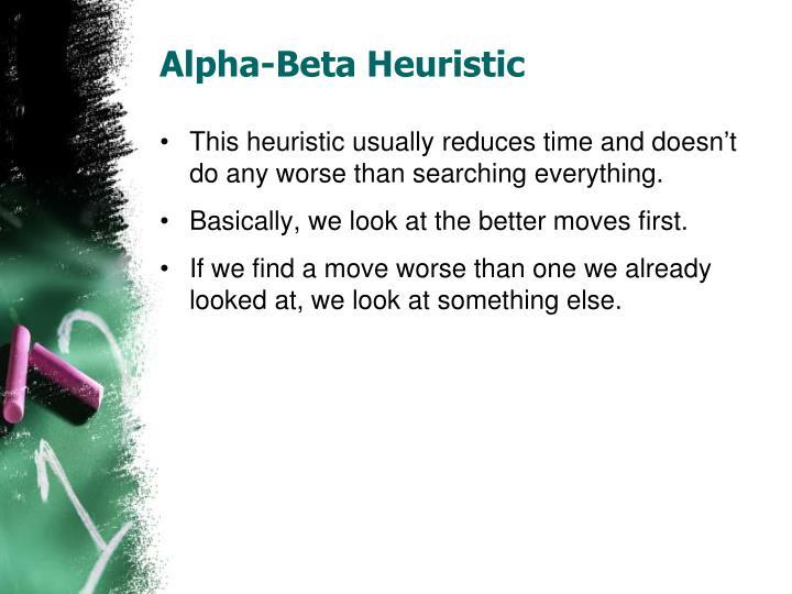 Alpha-Beta Heuristic