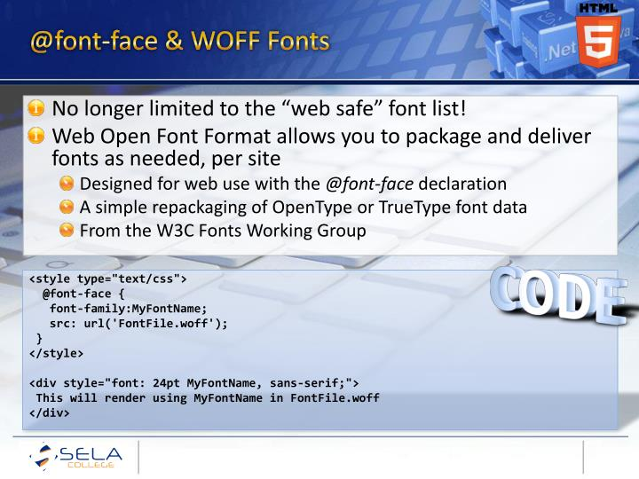 @font-face & WOFF Fonts