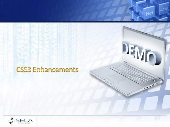 CSS3 Enhancements