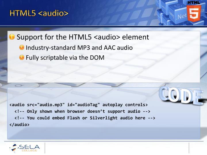 HTML5 <audio>