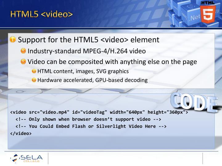 HTML5 <video>