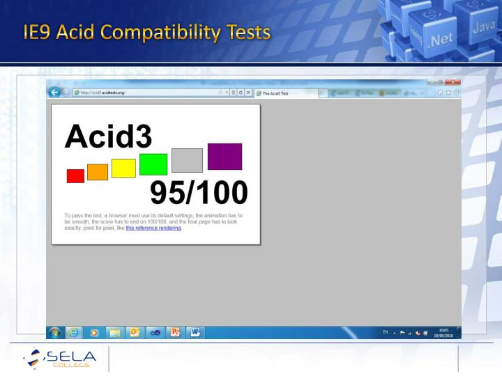 IE9 Acid Compatibility Tests