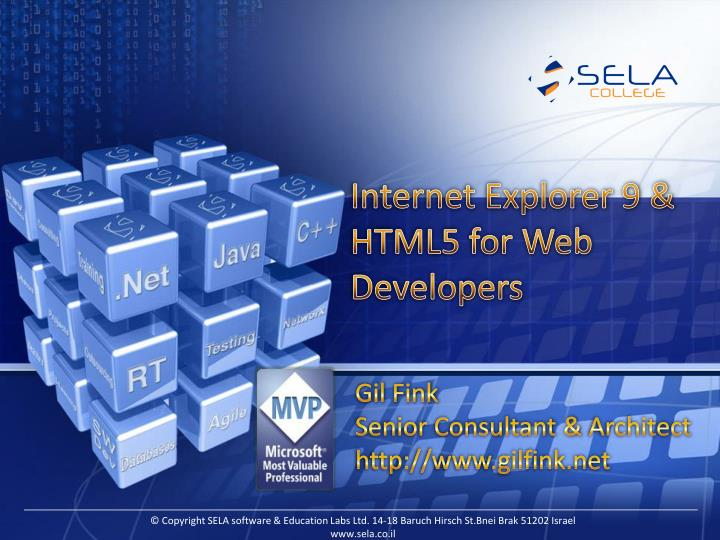 Internet explorer 9 html5 for web developers