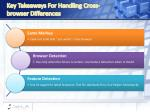 key takeaways for handling cross browser differences
