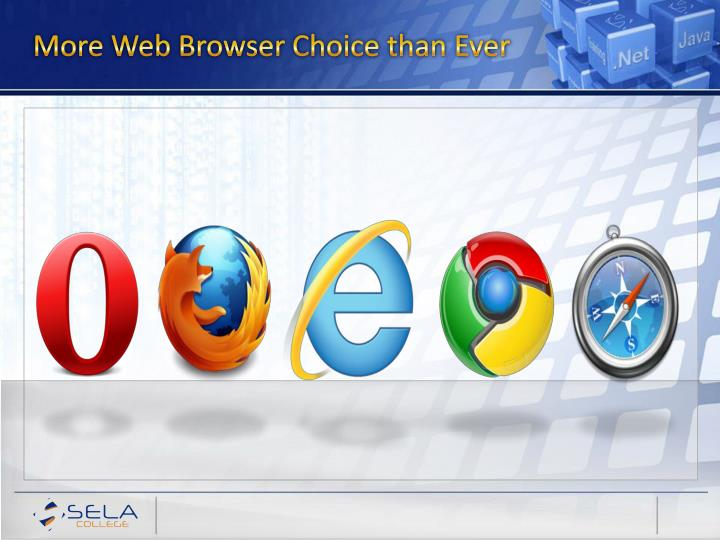 More Web Browser Choice than Ever