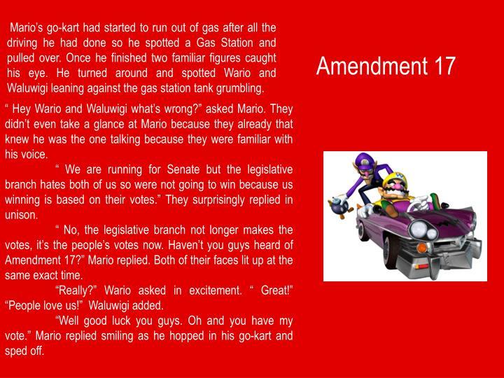Amendment 17