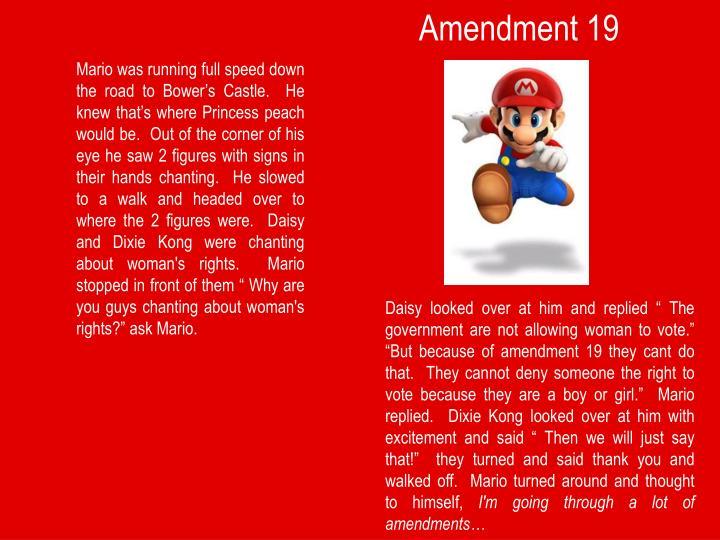 Amendment 19