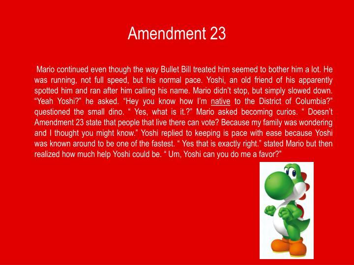 Amendment 23