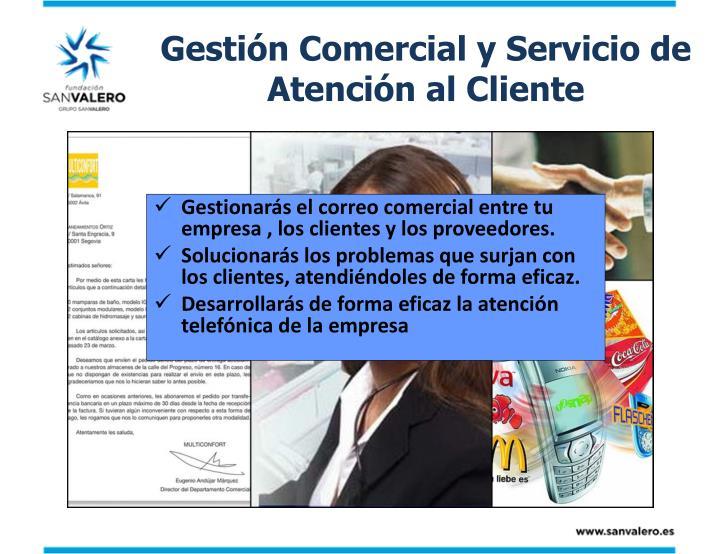 Gestión Comercial y Servicio de Atención al Cliente