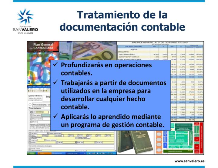 Tratamiento de la documentación contable
