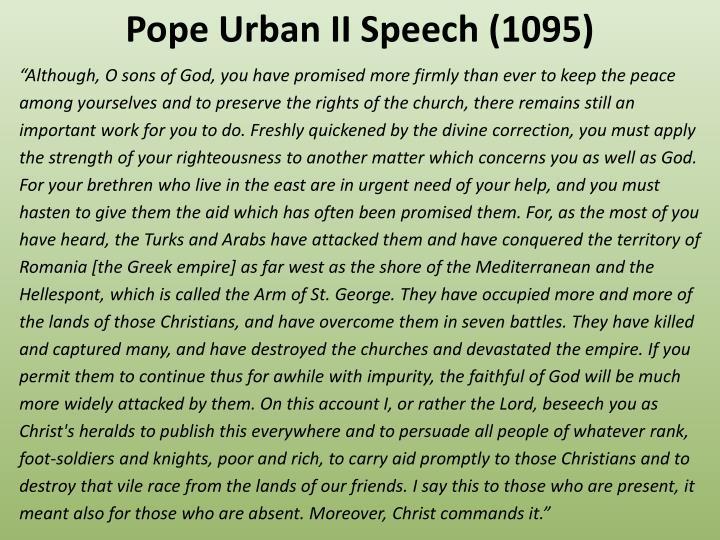 Pope Urban II Speech (1095)