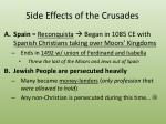 side effects of the crusades