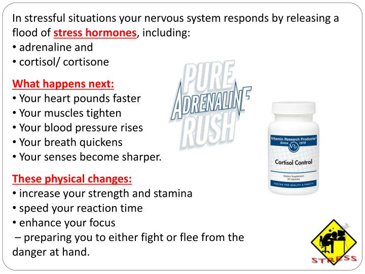 In stressful situations your nervous system responds by releasing a flood of