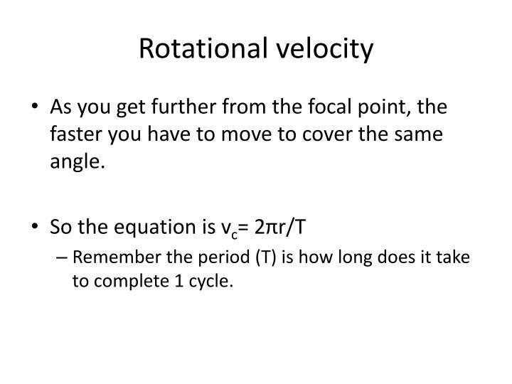 Rotational velocity