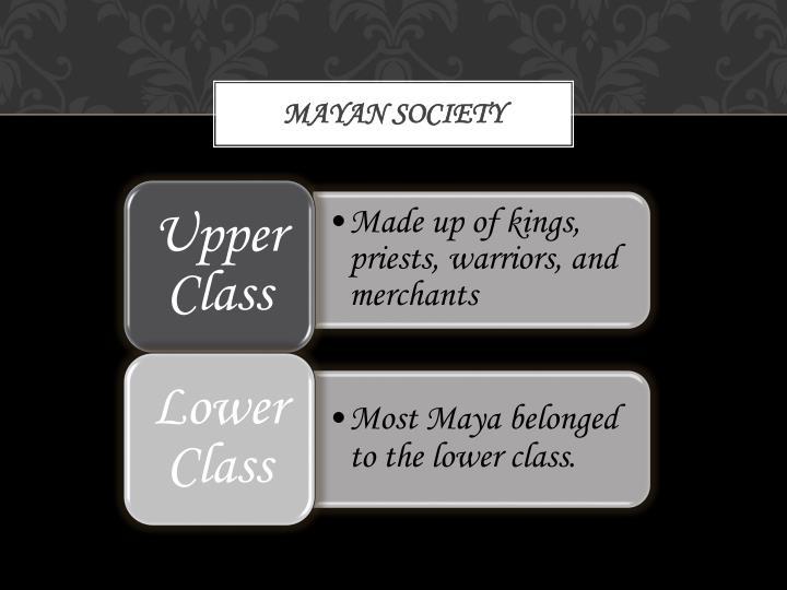 Mayan society