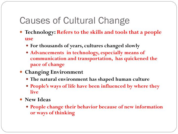 Causes of Cultural Change