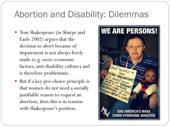 Abortion and Disability: Dilemmas