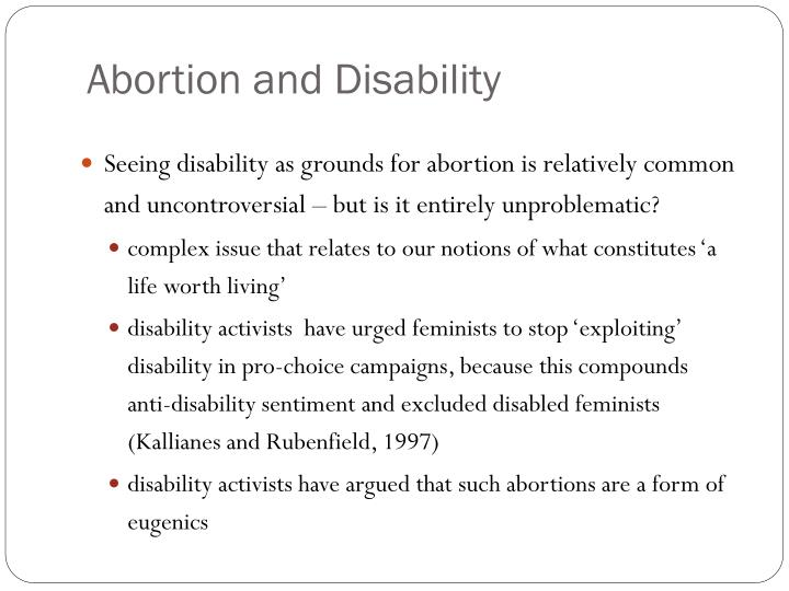 Abortion and Disability