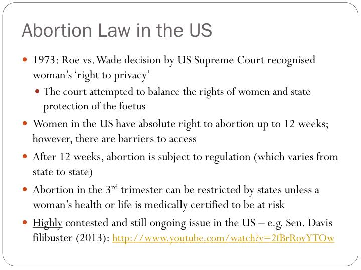 Abortion Law in the US