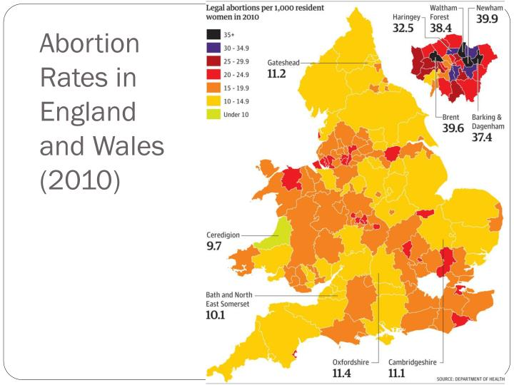 Abortion Rates in England and Wales (2010)