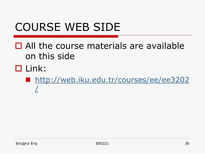 COURSE WEB SIDE