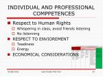 individual and professional comppetences