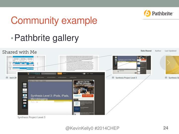 Community example