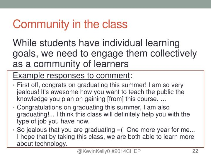 Community in the class